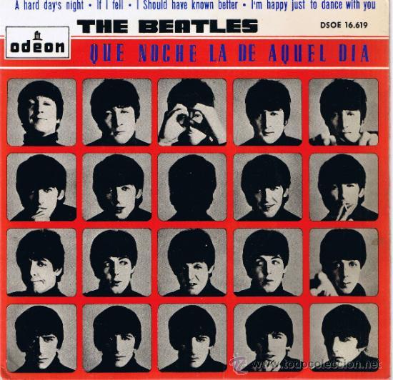 THE BEATLES - A HARD DAY'S NIGHT - IF I FELL - I SHOULD KNOWN BETTER - I'M HAPPY JUST TO DANCE -1964 (Música - Discos - Singles Vinilo - Pop - Rock Internacional de los 50 y 60)