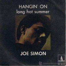 Dischi in vinile: JOE SIMON - HANGIN' ON - LONG HOT SUMMER - 1968. Lote 37513904