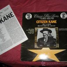 Discos de vinilo: CLASSIC SCORES BERNARD HERRMANN CITIZEN KANE LP BANDA SONORA CHARLES GERHARDT 1981 CON ENCARTE . Lote 37520380