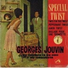 Discos de vinilo: SPECIAL TWIST - GEORGES JOUVIN - TROMPETA Y ORQUESTA. Lote 37531673