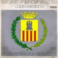 Discos de vinilo: SARDANES A VILANOVA I LA GELTRÚ - 7È CENTENARI DE LA CARTA POBLA - FOTO ADICIONAL. Lote 37532366