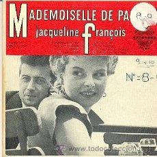 Disques de vinyle: JACQUELINE FRANCOIS - MADEMOISELLE DE PARIS - DOBLE EP DE VINILO MADE IN USA. Lote 37538985