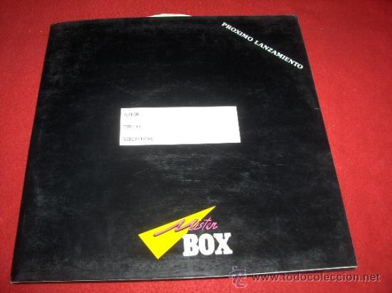 PEDIRAS ARNICA FOLDER CARPETA PROMO 1988 MISTER BOX + LP + FOTO + HOJA PROMO (Música - Discos - LP Vinilo - Grupos Españoles de los 70 y 80)