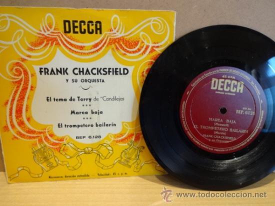 FRANK CHACKSFIELD Y SU ORQUESTA. EL TEMA DE TERRY. EPS DECCA AÑOS 50. EXCELENTE. ****/**** (Música - Discos de Vinilo - EPs - Orquestas)