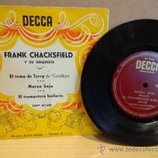 Discos de vinilo: FRANK CHACKSFIELD Y SU ORQUESTA. EL TEMA DE TERRY. EPS DECCA AÑOS 50. EXCELENTE. ****/****. Lote 37559594