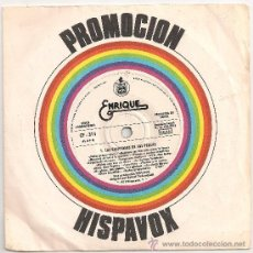 Discos de vinilo: ENRIQUE Y ANA - LAS CANCIONES DE LOS PEQUES (SINGLE PROMO HISPAVOX 1978). Lote 37546939