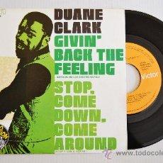 Discos de vinilo: DUANE CLARK - GIVIN´BACK THE FEELING/STOP COME DOWN, COME AROUND (RCA SINGLE 1977) SPÑ. Lote 37550561