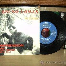 Discos de vinilo: BRUNO LOMAS , CON LOS ROCKEROS , EN 45 R.P.M. . Lote 37554391
