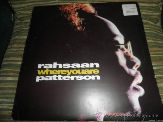 Discos de vinilo: RAHSAAN PATTERSON - WHERE YOU ARE MAXI EP 33 R.P.M.- 12 PULGADAS - ORIGINAL ITALIA - UNIVERSAL 1988 - Foto 17 - 37565303