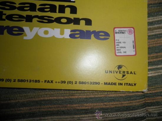 Discos de vinilo: RAHSAAN PATTERSON - WHERE YOU ARE MAXI EP 33 R.P.M.- 12 PULGADAS - ORIGINAL ITALIA - UNIVERSAL 1988 - Foto 11 - 37565303