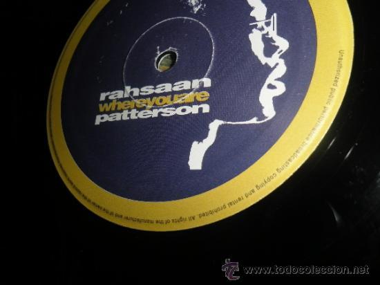 Discos de vinilo: RAHSAAN PATTERSON - WHERE YOU ARE MAXI EP 33 R.P.M.- 12 PULGADAS - ORIGINAL ITALIA - UNIVERSAL 1988 - Foto 4 - 37565303