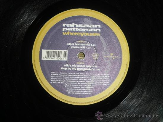 Discos de vinilo: RAHSAAN PATTERSON - WHERE YOU ARE MAXI EP 33 R.P.M.- 12 PULGADAS - ORIGINAL ITALIA - UNIVERSAL 1988 - Foto 6 - 37565303