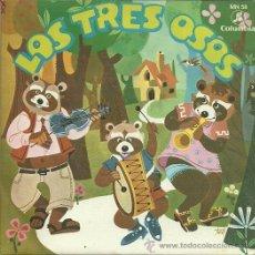 Discos de vinilo: LOS TRES OSOS (CUENTO) SINGLE SELLO COLUMBIA EDITADO EN ESPAÑA AÑO 1964. Lote 37564527