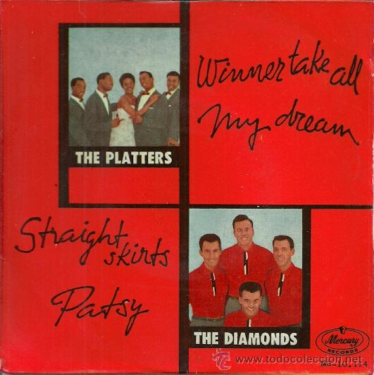 LOS PLATTERS / THE DIAMONDS EP SELLO MERCURY EDITADO EN ESPAÑA AÑO 1959 (Música - Discos de Vinilo - EPs - Funk, Soul y Black Music)