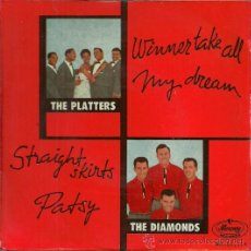 Discos de vinilo: LOS PLATTERS / THE DIAMONDS EP SELLO MERCURY EDITADO EN ESPAÑA AÑO 1959. Lote 37564762