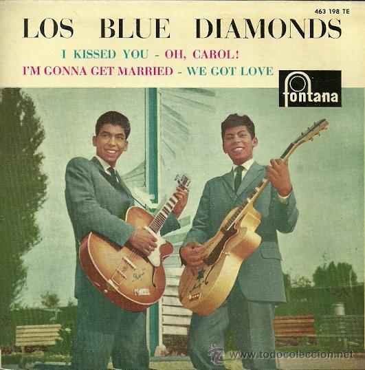 LOS BLUE DIAMONDS SINGLE SELLO FONTANA EDITADO EN ESPAÑA AÑO 1961 (Música - Discos de Vinilo - EPs - Funk, Soul y Black Music)
