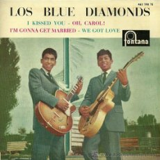 Discos de vinilo: LOS BLUE DIAMONDS SINGLE SELLO FONTANA EDITADO EN ESPAÑA AÑO 1961. Lote 37573223
