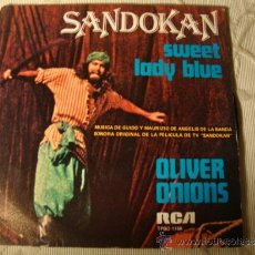 Discos de vinilo: DISCO SINGLE BANDA ORIGINAL SERIE TV SANDOKAN. Lote 37574851