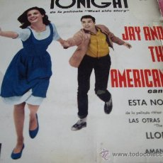 Discos de vinilo: JAY AND THE AMERICANS-TONIGHT-1962-SU PRIMER EP Y EL MAS DIFICIL . Lote 37583895