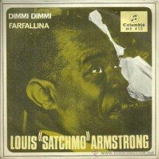 Discos de vinilo: LOUIS ARMSTRONG SINGLE SELLO COLUMBIA EDITADO EN ESPAÑA AÑO 1967. Lote 37589653
