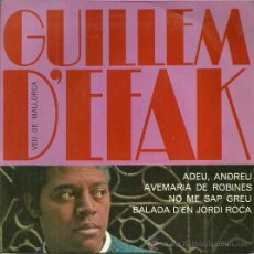 Discos de vinilo: GUILLEM D´EFAK EP SELLO CONCENTRIC EDITADO EN ESPAÑA AÑO 1966. Lote 37589951