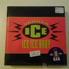 Discos de vinil: VANILLA ICE - ICE ICE BABY - CON ENCARTE 4 FOLIOS BIOGRAFIA PARA RADIO (PEDIDO MINIMO 6 EUROS). Lote 37590785