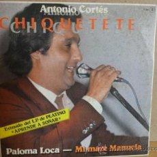 Discos de vinilo: CHIQUETETE. PALOMA LOCA. SINGLE - PROMO / ZAFIRO - 1982. CALIDAD LUJO. ***/****. Lote 37595704