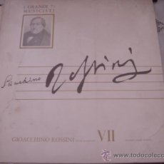 Discos de vinilo: GIOACCHHINO ROSSINI TUTTE LE SINFONIE VII GARANDI 53 MUSICISTI . Lote 37615930