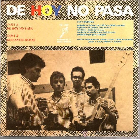 Discos de vinilo: SINGLE SINIESTRO TOTAL : : DE HOY NO PASA - Foto 2 - 37621772