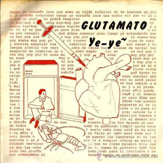 EP GLUTAMATO YE-YE : CORAZON LOCO + 3 ( CONTIENE ENCARTE ORIGINAL) (Música - Discos de Vinilo - EPs - Grupos Españoles de los 70 y 80)
