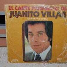Discos de vinilo: DISCO VINILO LP JUANITO VILLAR