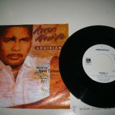 Discos de vinilo: AARON NEVILLE LOUISIANA / HOUSE ON A HILL (1991 A&M UK) NEVILLE BROTHERS RANDY NEWMAN LINDA RONSTADT. Lote 37721293