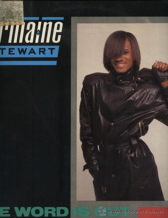 JERMAINE STEWART - THE WORD IS OUT (Música - Discos de Vinilo - Maxi Singles - Jazz, Jazz-Rock, Blues y R&B)