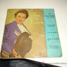 Discos de vinilo: SOLO CARATULA SIN DISCO NIÑA DE ANTEQUERA MARIA ROSA DE LEON BENITO. Lote 37663666