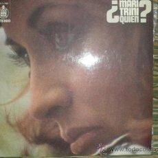 Discos de vinilo: MARI TRINI - ¿QUIEN? LP - ORIGINAL ESPAÑA - HISPAVOX 1974 CON POSTER (LETRAS) Y ENCARTE -. Lote 37667102