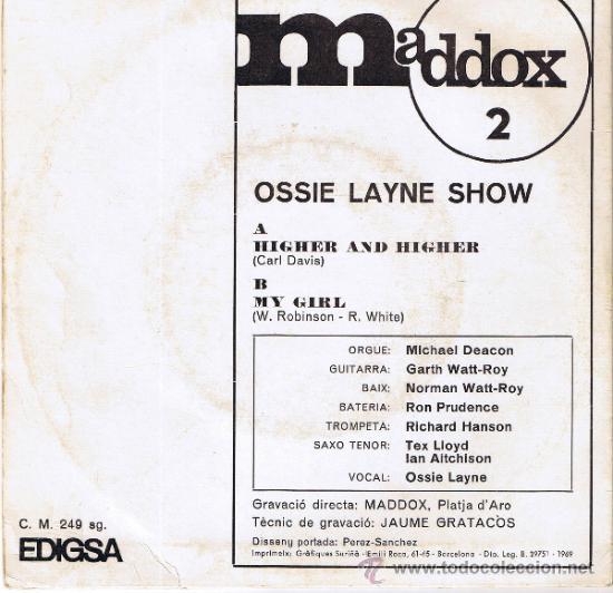Discos de vinilo: MADDOX 2 - OSSIE LAYNE SHOW - GRAVACIÓ MADDOX PLATJA DARO - FOTO ADICIONAL - Foto 2 - 37651377