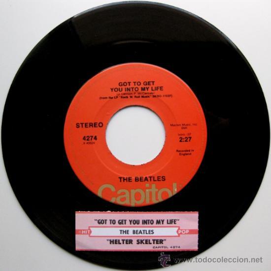 THE BEATLES - GOT TO GET YOU INTO MY LIFE - SINGLE CAPITOL USA 1976 - BPY (Música - Discos - Singles Vinilo - Pop - Rock Extranjero de los 50 y 60)