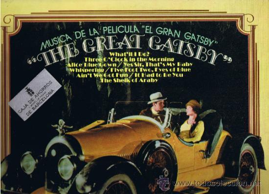 THE GREAT GATSBY - MÚSICA DE LA PELÍCULA - 1974 (Música - Discos - LP Vinilo - Bandas Sonoras y Música de Actores )
