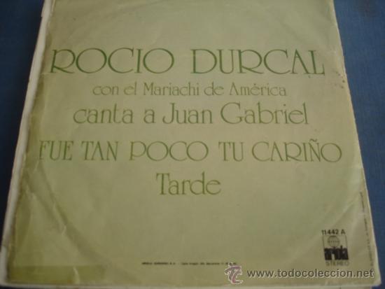 Discos de vinilo: ROCIO DURCAL FUE TAN POCO TU CARIÑO - Foto 2 - 37683660