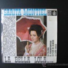 Discos de vinilo: SARA MONTIEL SINGLE. Lote 37709058