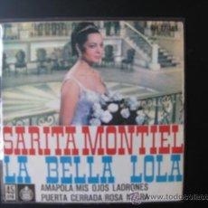 Discos de vinilo: SARA MONTIEL SINGLE. Lote 37709066