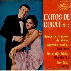 Discos de vinilo: XAVIER CUGAT - RUMBA DE LA PLAYA DE MIAMI - ME LO DIJO ADELA + 2 - EP SPAIN 1963 EX / EX. Lote 37712899