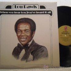 "Discos de vinilo: LOU RAWLS - "" WHEN YOU HEAR LOU, YOU'VE HEARD IT ALL "" LP ORIGINAL USA. Lote 37724119"