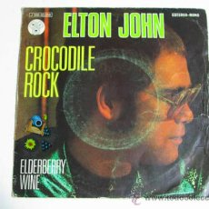Discos de vinilo: SINGLE ELTON JOHN, CROCODILE ROCK. Lote 37725379