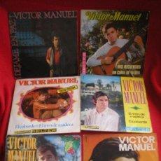 Discos de vinilo: 6 SINGLES DE VICTOR MANUEL. Lote 37726880