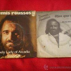 Discos de vinilo: 2 SINGLES DE DEMIS ROUSSOS. Lote 37727140