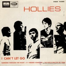 Discos de vinilo: THE HOLLIES - IF I NEEDED SOMEONE ( TEMA BEATLES ) I CAN'T LET GO + 2 - EP SPAIN 1966 VG++ / VG++. Lote 37727781