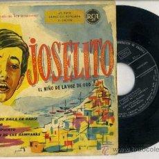 Discos de vinilo: JOSELITO : EL TANGO SE BAILA EN CÁDIZ + 3 CANCIONES. Lote 37732022