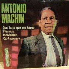 Discos de vinilo: ANTONIO MACHÍN. QUE FALTA QUE ME HACES. EP DISCOPHON 1965. BUENA CALIDAD. ****/***. Lote 37735996
