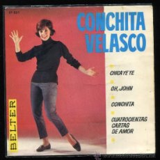 Discos de vinilo: CONCHITA VELASCO LA CHICA YE YE CONCHA VELASCO SINGLE. Lote 37735265